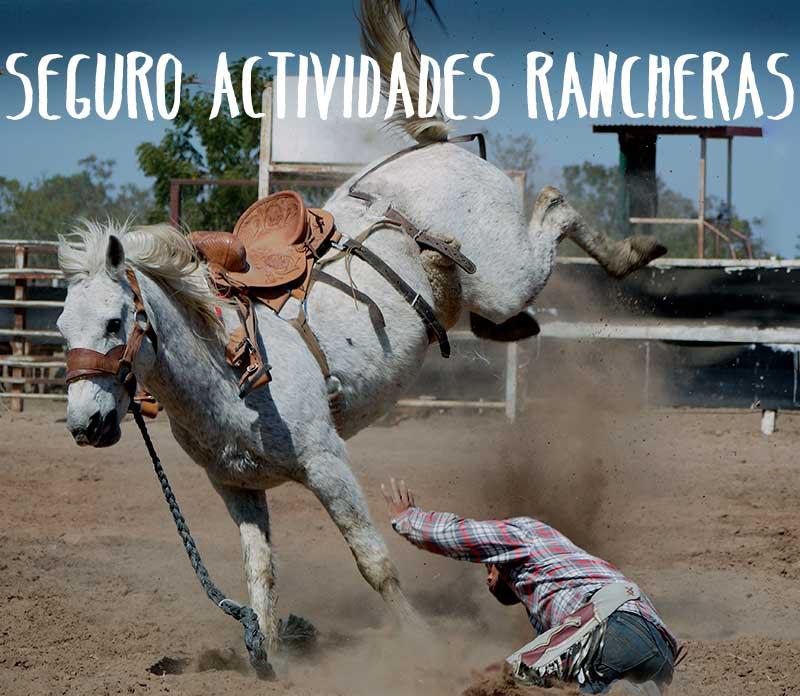 seguro actividades rancheras